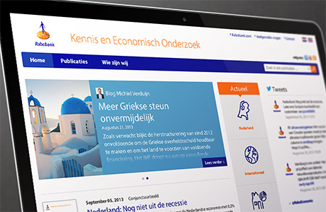 Screenshot van de Rabobank KEO website